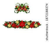 christmas holly brunches...   Shutterstock .eps vector #1872188374