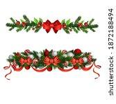 christmas holly brunches...   Shutterstock .eps vector #1872188494
