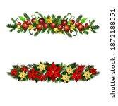 christmas holly brunches...   Shutterstock .eps vector #1872188551