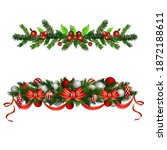 christmas holly brunches...   Shutterstock .eps vector #1872188611