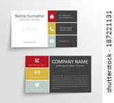 modern simple business card... | Shutterstock .eps vector #187221131