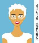 vector portrait of a cute... | Shutterstock .eps vector #1872243607