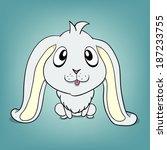 baby rabbit | Shutterstock .eps vector #187233755