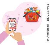 illustration online toy store.... | Shutterstock .eps vector #1872337981