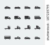 vector cars   vehicles mini... | Shutterstock .eps vector #187235795