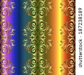 seamless pattern on colorful... | Shutterstock .eps vector #187238189