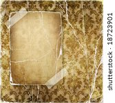 vintage torn background with blank page - stock photo