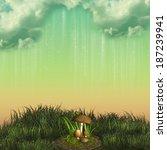 lonely landscape in the field...   Shutterstock . vector #187239941