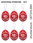 easter discount tags in the... | Shutterstock .eps vector #187241384
