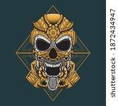 mecha robot skull vector... | Shutterstock .eps vector #1872434947