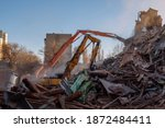 Process Of Demolition Of Old...