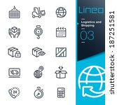 lineo   logistics and shipping... | Shutterstock .eps vector #187251581