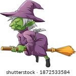 the illustration of the green... | Shutterstock .eps vector #1872533584