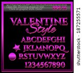 sweet valentine graphic styles... | Shutterstock .eps vector #187255571