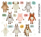 set of illustrations with... | Shutterstock .eps vector #187256654