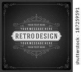 retro chalkboard typographic... | Shutterstock .eps vector #187259591