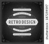 retro chalkboard typographic... | Shutterstock .eps vector #187259597