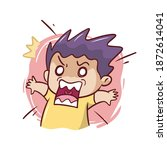 the funny expression of a...   Shutterstock .eps vector #1872614041