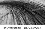 Small photo of Abstract texture and background of car tire drift skid mark on road race track, Black tire mark on street race track, Automobile and automotive concept.