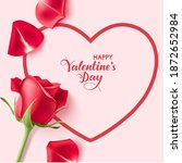 valentines day design templates.... | Shutterstock .eps vector #1872652984