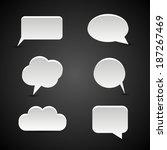 speech bubbles | Shutterstock .eps vector #187267469