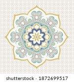 medallion vintage multi color...   Shutterstock .eps vector #1872699517