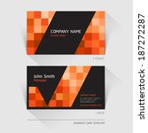 business card abstract... | Shutterstock .eps vector #187272287