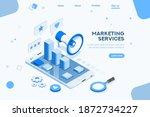 seo agency blog for communicate ... | Shutterstock .eps vector #1872734227