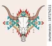 vector illustration of bull...   Shutterstock .eps vector #187276211