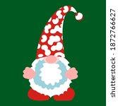 christmas leopard gnome clipart ... | Shutterstock .eps vector #1872766627