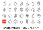 set of vector linear icons....   Shutterstock .eps vector #1872766774