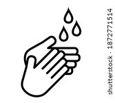 washing hands to keep clean... | Shutterstock .eps vector #1872771514