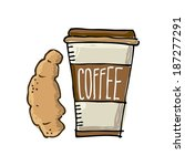 coffee design  over white... | Shutterstock .eps vector #187277291
