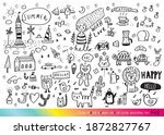 vector illustration of doodle...   Shutterstock .eps vector #1872827767