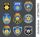 police badges set vector.... | Shutterstock .eps vector #1872862981