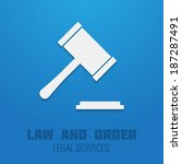 judge gavel legal services law... | Shutterstock .eps vector #187287491