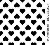 simple heart shape seamless...   Shutterstock .eps vector #1872881524