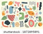 trendy doodle abstract nature... | Shutterstock .eps vector #1872895891