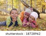 happy children in autumn park 5 | Shutterstock . vector #18728962