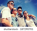 summer holidays and teenage... | Shutterstock . vector #187290701