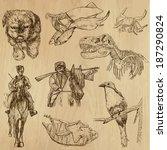 animals around the world  set... | Shutterstock .eps vector #187290824