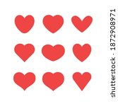 heart icons collection. vector... | Shutterstock .eps vector #1872908971