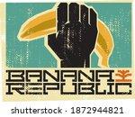 fist and banana. banana...   Shutterstock .eps vector #1872944821