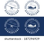 emblem of hydroplane | Shutterstock .eps vector #187296929