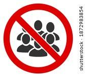 no crowd icon. illustration... | Shutterstock . vector #1872983854