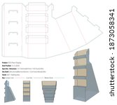 pos floor display packaging... | Shutterstock .eps vector #1873058341