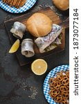 German Fish Sandwich  Herring...