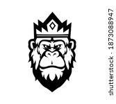 king kong mascot logo... | Shutterstock .eps vector #1873088947