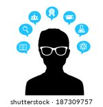 man with glasses | Shutterstock . vector #187309757
