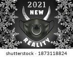 a bull  2021 new year symbol ... | Shutterstock .eps vector #1873118824